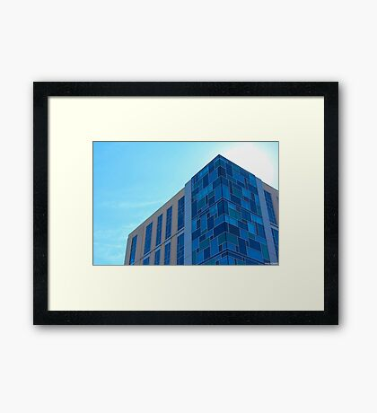Building Meets Sky Framed Print