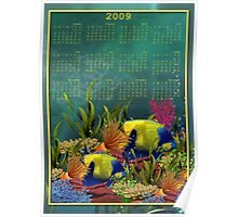 Underwater Sealife - Month at a Glance 2009 calendar Poster