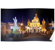 St. Nicholas Square, Siġġiewi, Malta. Poster