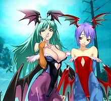 Morrigan & Lilith by Relderf