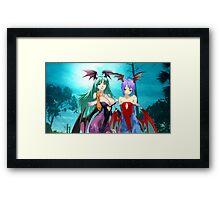 Morrigan & Lilith Framed Print