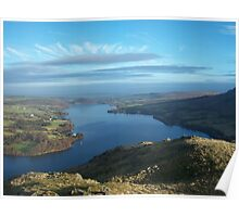 The Lake District: Ullswater, From Hallin Fell. Poster