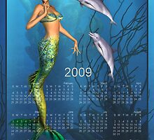 Mermaid's Secret Tale - Month at a Glance 2009 calendar by Lisa  Weber