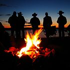 Cowboy Campfire by Heath Dreger