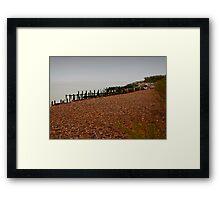 Dull Sea Framed Print