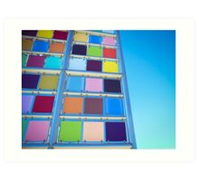Colored Squares Art Print