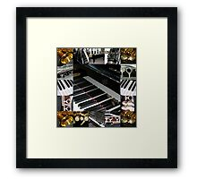 Play the Pretty Notes! Music Collage Framed Print