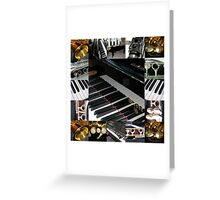 Play the Pretty Notes! Music Collage Greeting Card