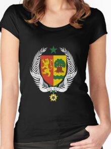 Coat of arms of Senegal Women's Fitted Scoop T-Shirt