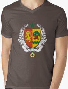 Coat of arms of Senegal Mens V-Neck T-Shirt