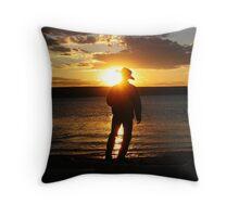 Tranquil Cowboy Throw Pillow