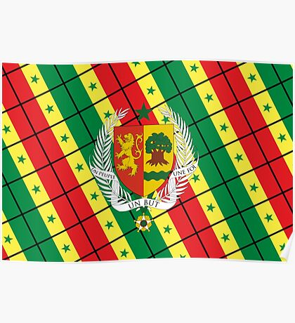 (Coat of arms of) Senegal Poster