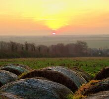 Cornwall: Sunrise Over the Hay Bales by Rob Parsons