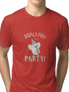 Koalafied To Party! Funny Koala  Tri-blend T-Shirt