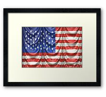 American Flag Draped Silk Framed Print