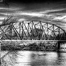 Arkadelphia Bridge B&W 2 by wadesimages