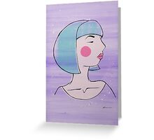 Lavender Doll Greeting Card