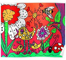 A Beautiul Day in Mo's Garden Poster