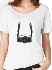 Classic Vintage 35mm Film SLR Camera Pentax MX  Women's Relaxed Fit T-Shirt
