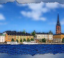 Riddarholmen islet, Stockholm, Sweden by vadim19