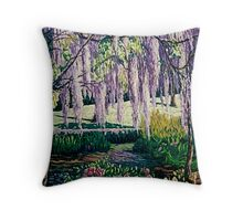 'Wisteria Walk' Throw Pillow