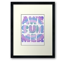 AWESUMMER Framed Print