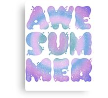 AWESUMMER Canvas Print