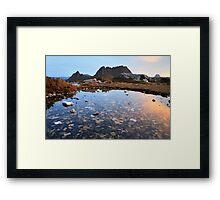 Cradle Mountain Tarn Sunset, Australia Framed Print