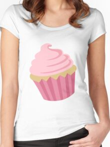 Just a Cupcake Sticker Women's Fitted Scoop T-Shirt