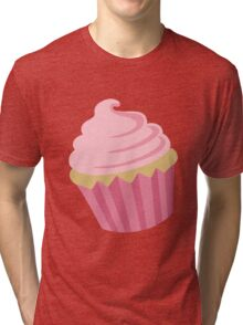 Just a Cupcake Sticker Tri-blend T-Shirt
