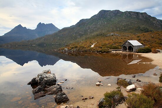 Boat Shed, Dove Lake, Cradle Mountain Nat. Park, Australia by Michael Boniwell