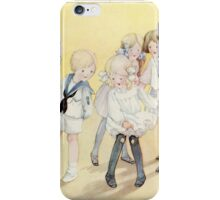 Vintage Children - Girl with holes in stockings iPhone Case/Skin