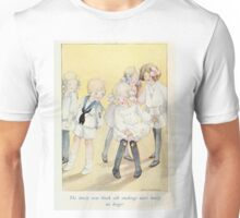 Vintage Children - Girl with holes in stockings Unisex T-Shirt