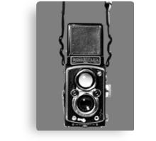 Classic Retro Rolleiflex Twin Lens Reflex Film Camera Canvas Print