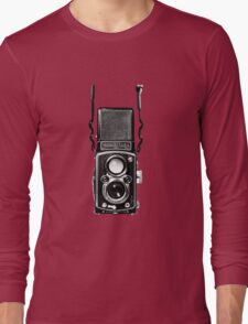 Classic Retro Rolleiflex Twin Lens Reflex Film Camera Long Sleeve T-Shirt