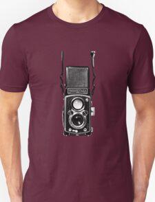 Classic Retro Rolleiflex Twin Lens Reflex Film Camera Unisex T-Shirt