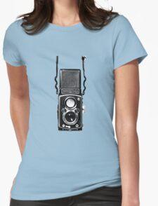 Classic Retro Rolleiflex Twin Lens Reflex Film Camera Womens Fitted T-Shirt