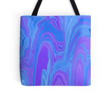 Rhythm of Color Abstract Art in Purple and Blue Tote Bag