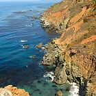 Rugged coastline Big Sur California  by David Jones