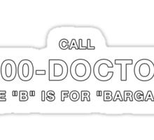 1-800-DOCTORB Sticker