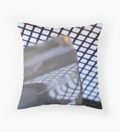 Gridflections on Glass Throw Pillow