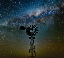 Flinders Windmill and Galaxy by pablosvista2