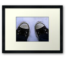 2feet of snow Framed Print