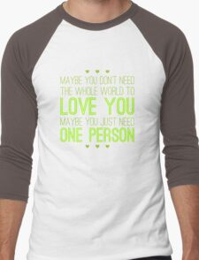 Just One Person Men's Baseball ¾ T-Shirt