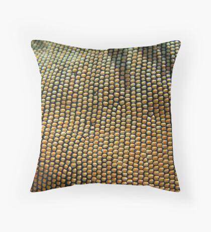 Iguana Beads Throw Pillow