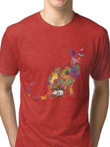 Colourful Kitty Tri-blend T-Shirt