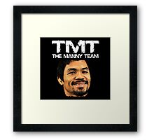 Mayweather Vs Pacquiao Fight The Manny Team TMT Shirt Framed Print
