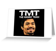 Mayweather Vs Pacquiao Fight The Manny Team TMT Shirt Greeting Card