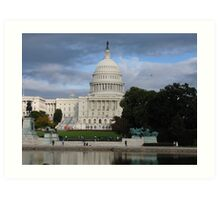 US Capital Building Art Print