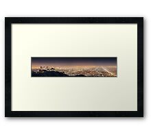 Los Angeles Panorama Framed Print